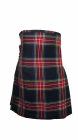 Scottish Kilts black Stewart 8 Yard  Kilt