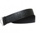 Thistle Embossed Leather Highland Scottish Kilt Belt